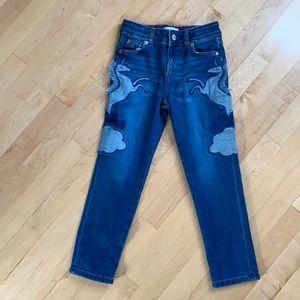 Mini Boden Unicorn Appliqué Jeans